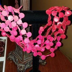 Summer fun pink multi-strand necklace